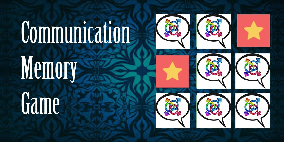communication memory game