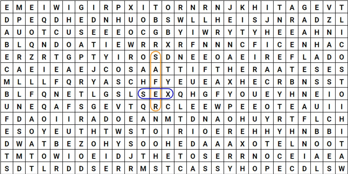 safer sex wordsearch