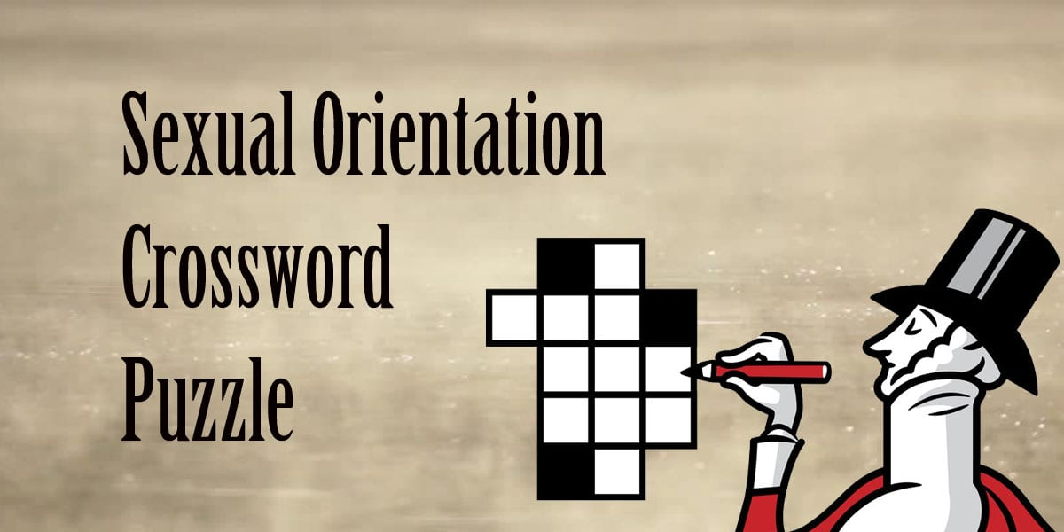 sexual orientation crossword