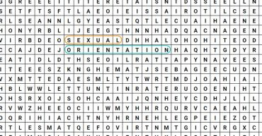 sexual orientations wordsearch
