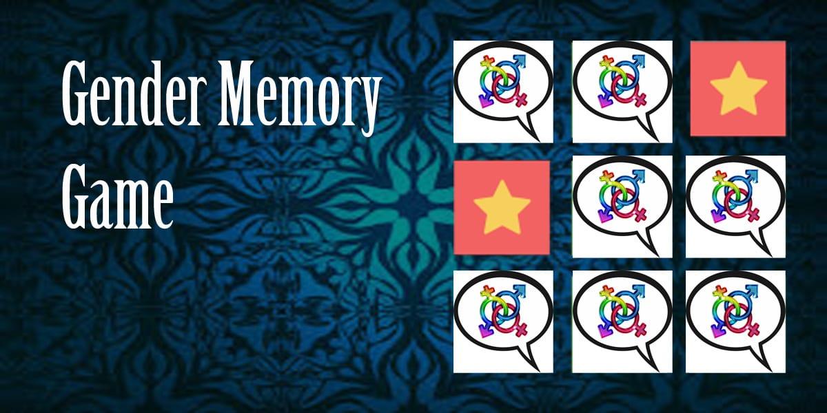 Gender memory game