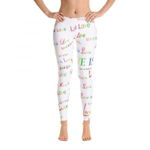 ladies white love is love tights