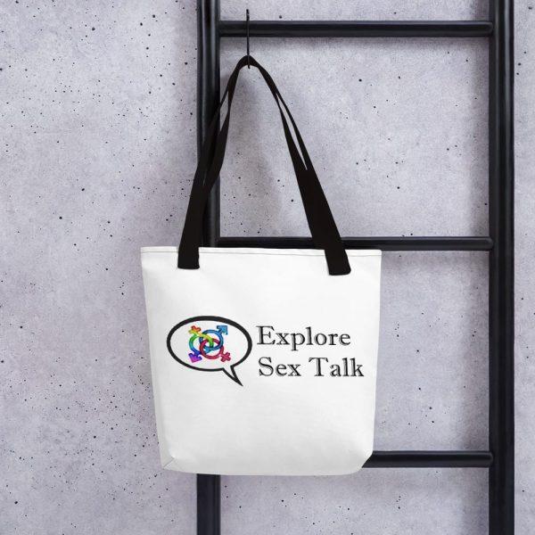Explore Sex Talk Tote bag