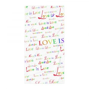 White love is love beachtowel