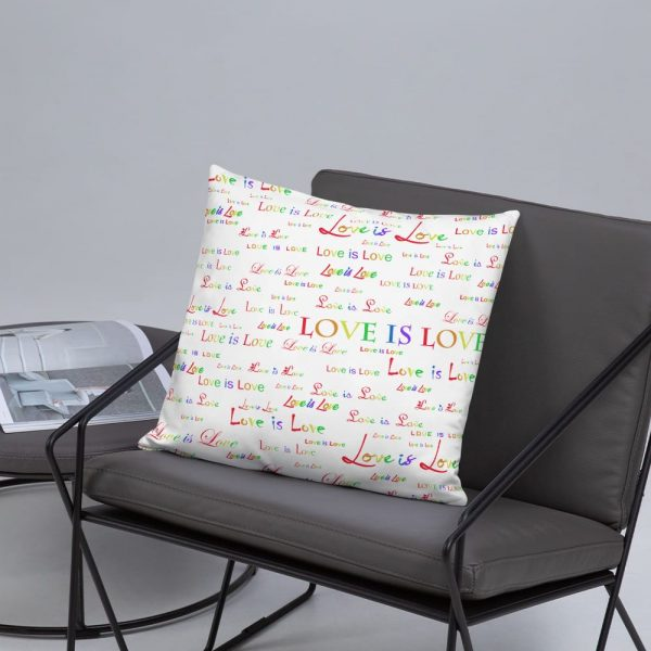 White Love is Love Pillow