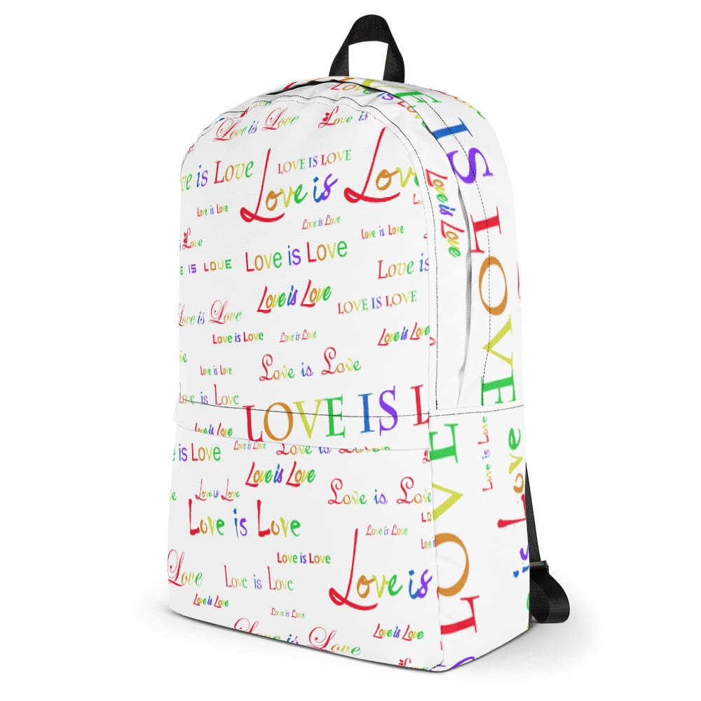 Love is Love White Backpack