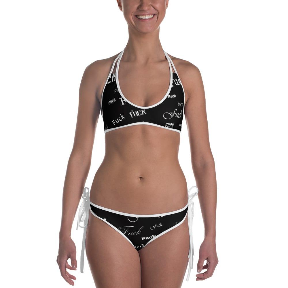 ladies black fuck bikini swimsuit