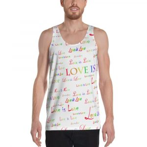 unisex white love is love tank top