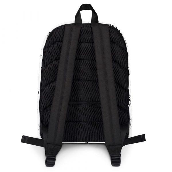 white fuck backpack