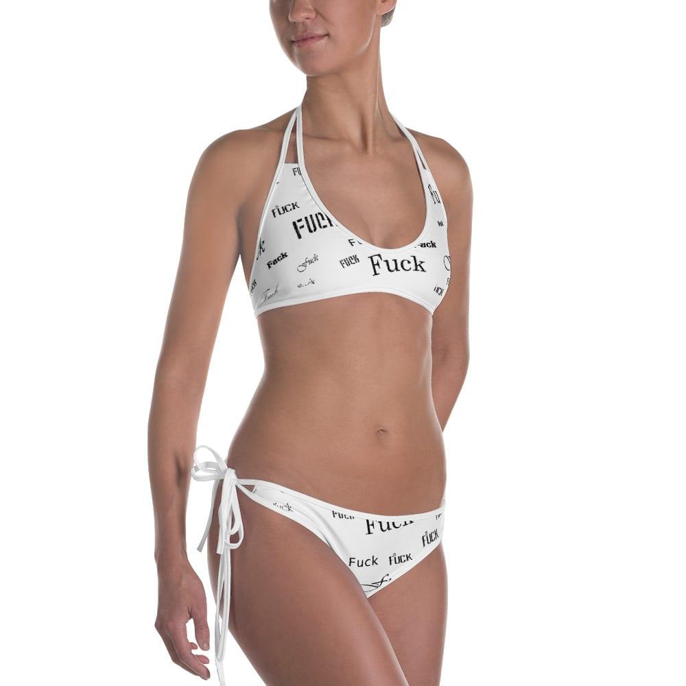 ladies white fuck bikini