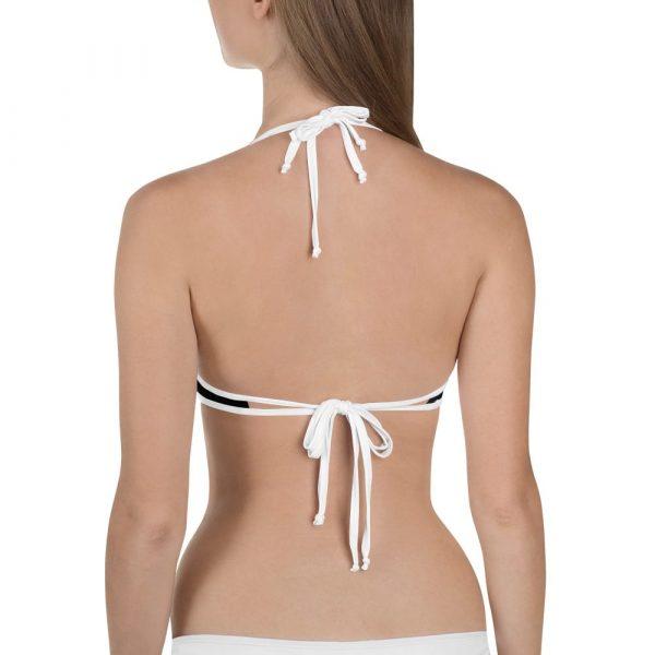 ladies black fuck bikini top
