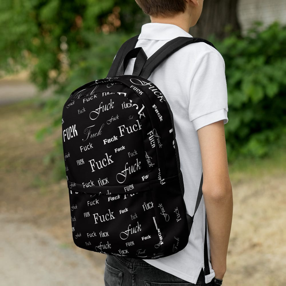 black fuck backpack
