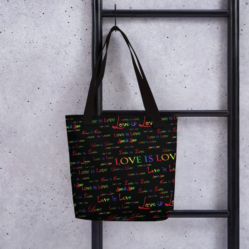 love is love black tote
