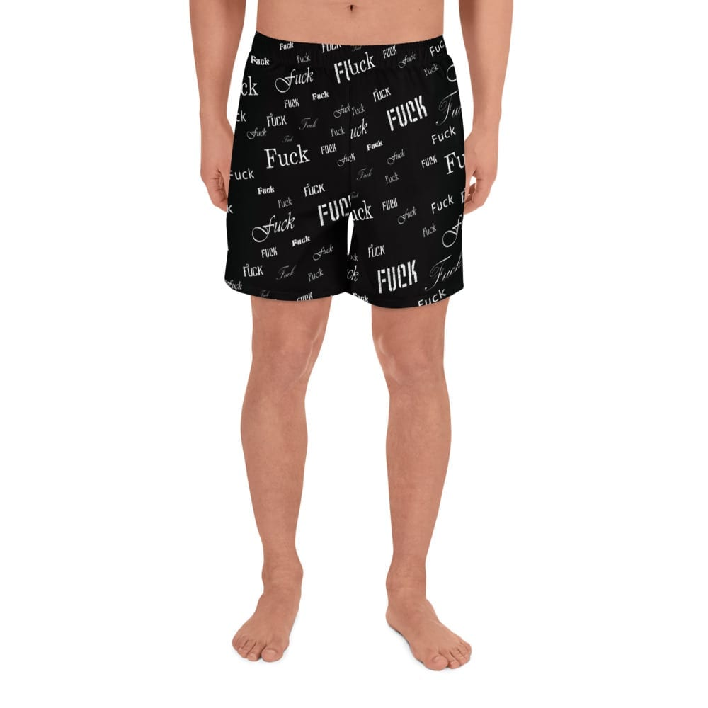 Men's black fuck shorts