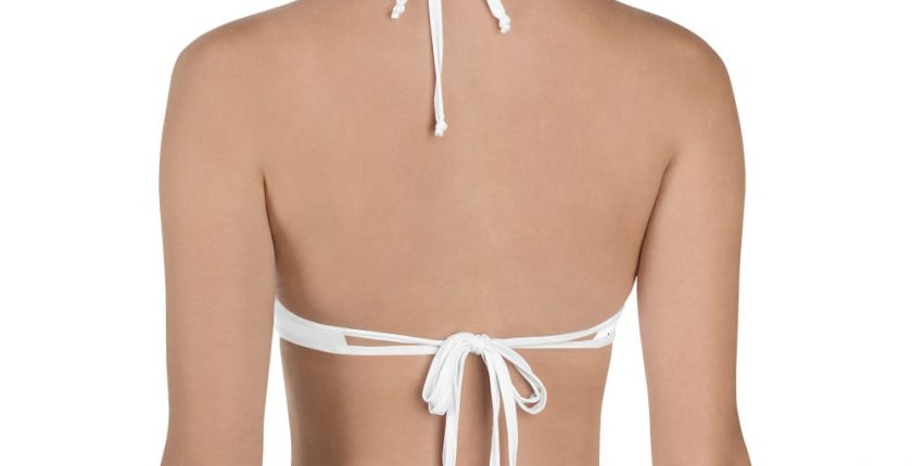 ladies white fuck bikini top