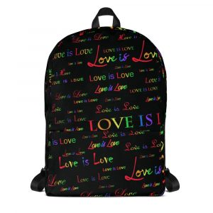 Love is Love Black Backpack