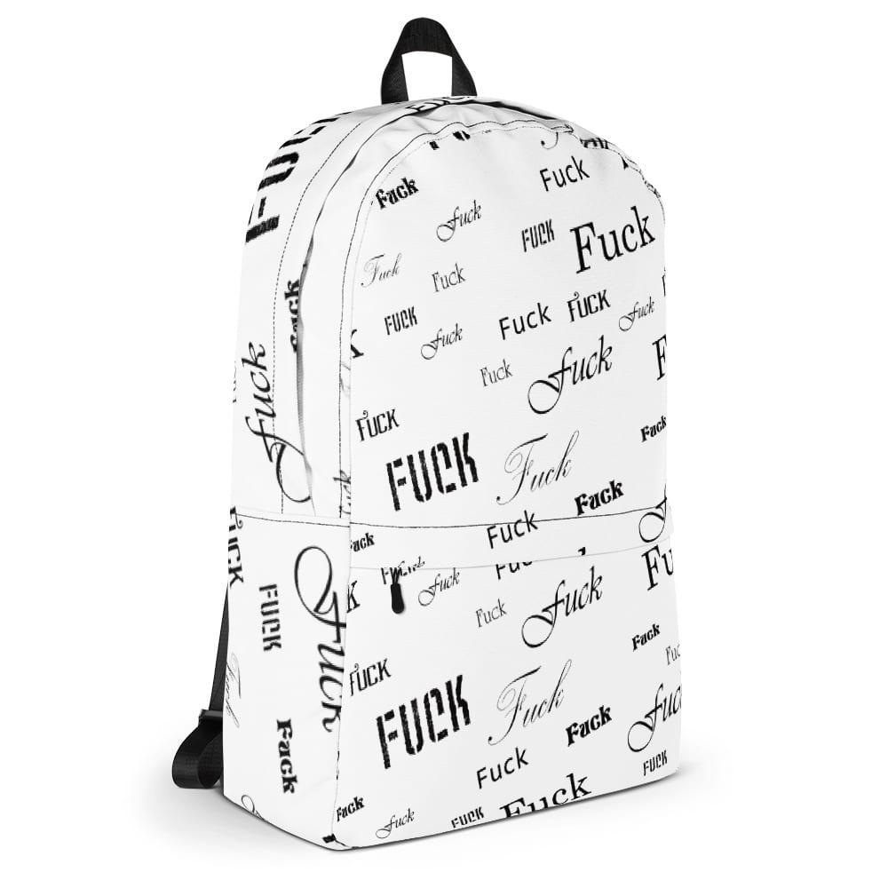 white fuck backpack