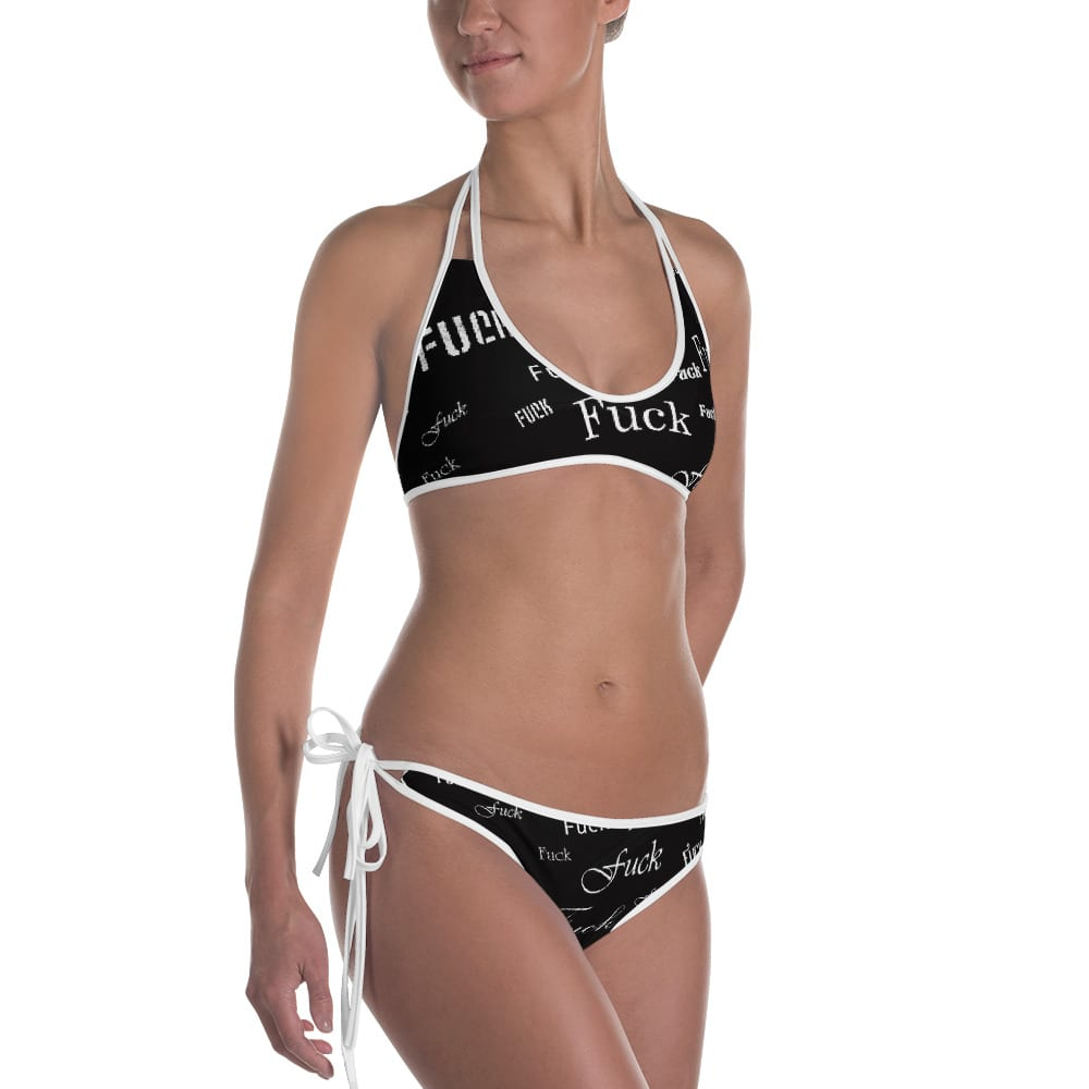 ladies black fuck bikini swimsuit