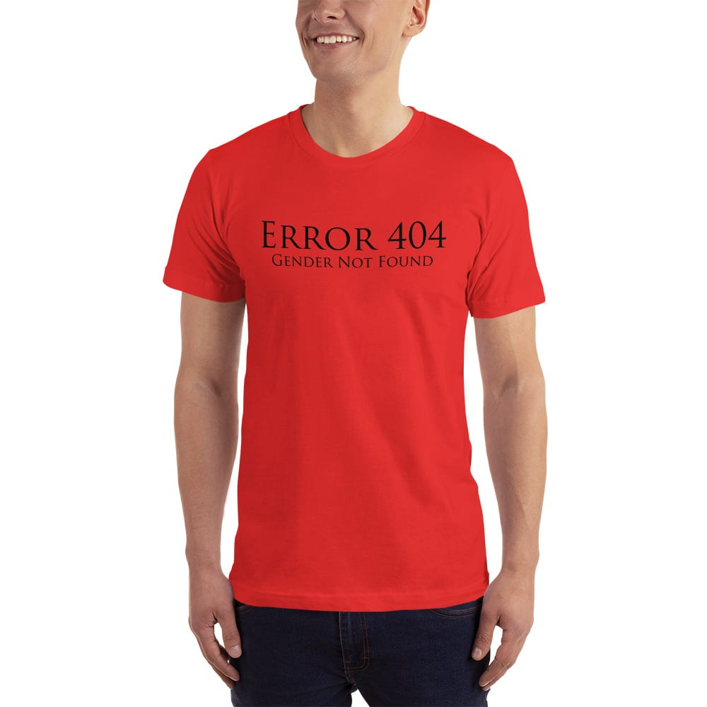 red error 404 gender not found unisex tshirt