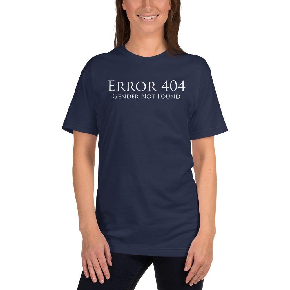 dark blue error 404 gender not found unisex tshirt