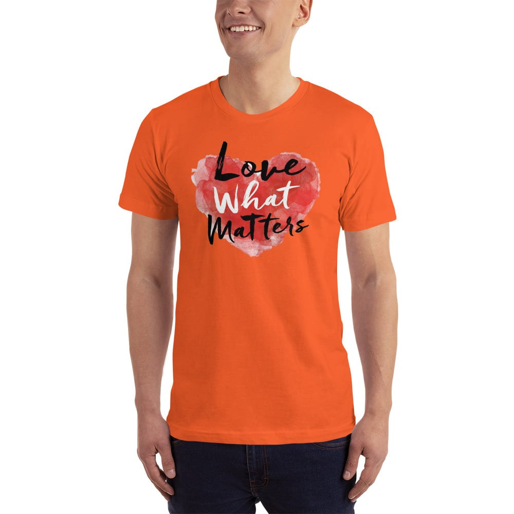 love what matters shirt orange