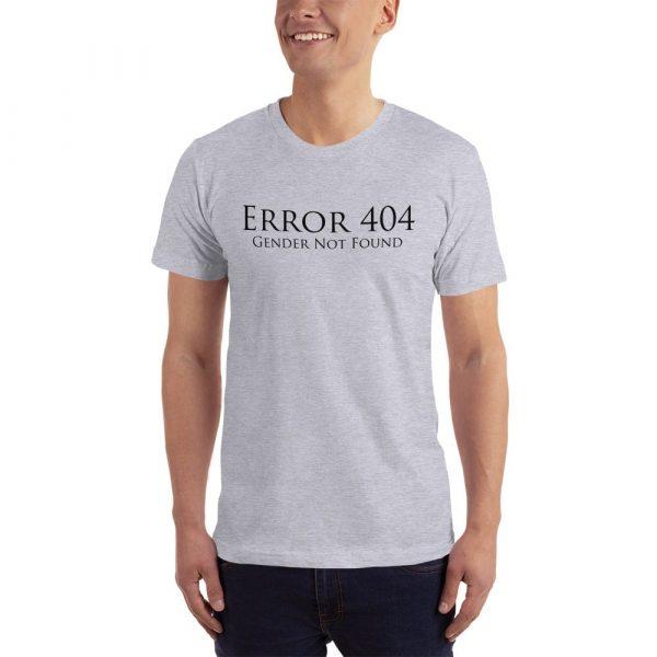 light grey error 404 gender not found unisex tshirt