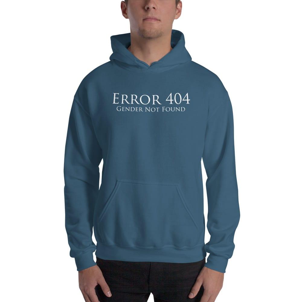 blue error 404 gender not found unisex hoodie