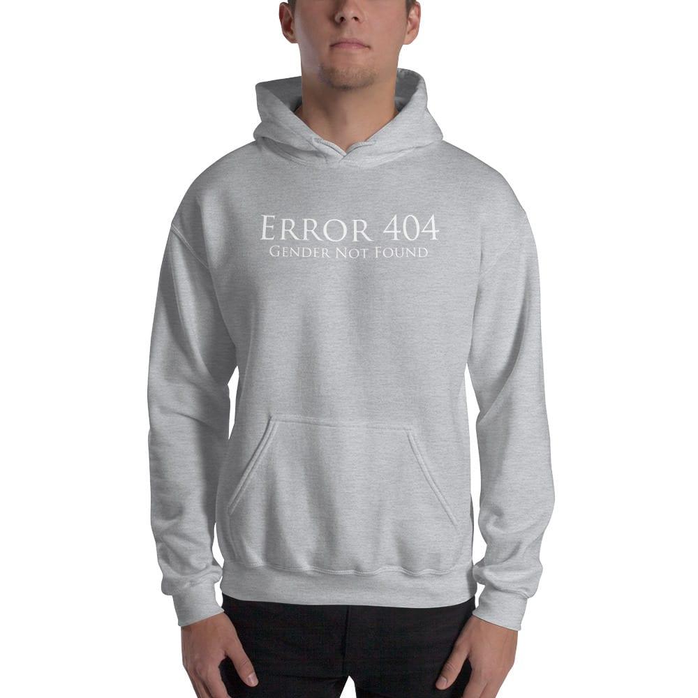 grey error 404 gender not found unisex hoodie