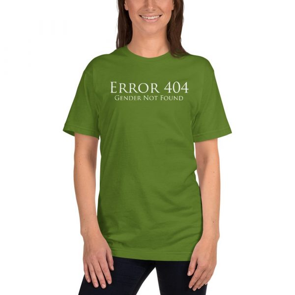 light green error 404 gender not found unisex tshirt