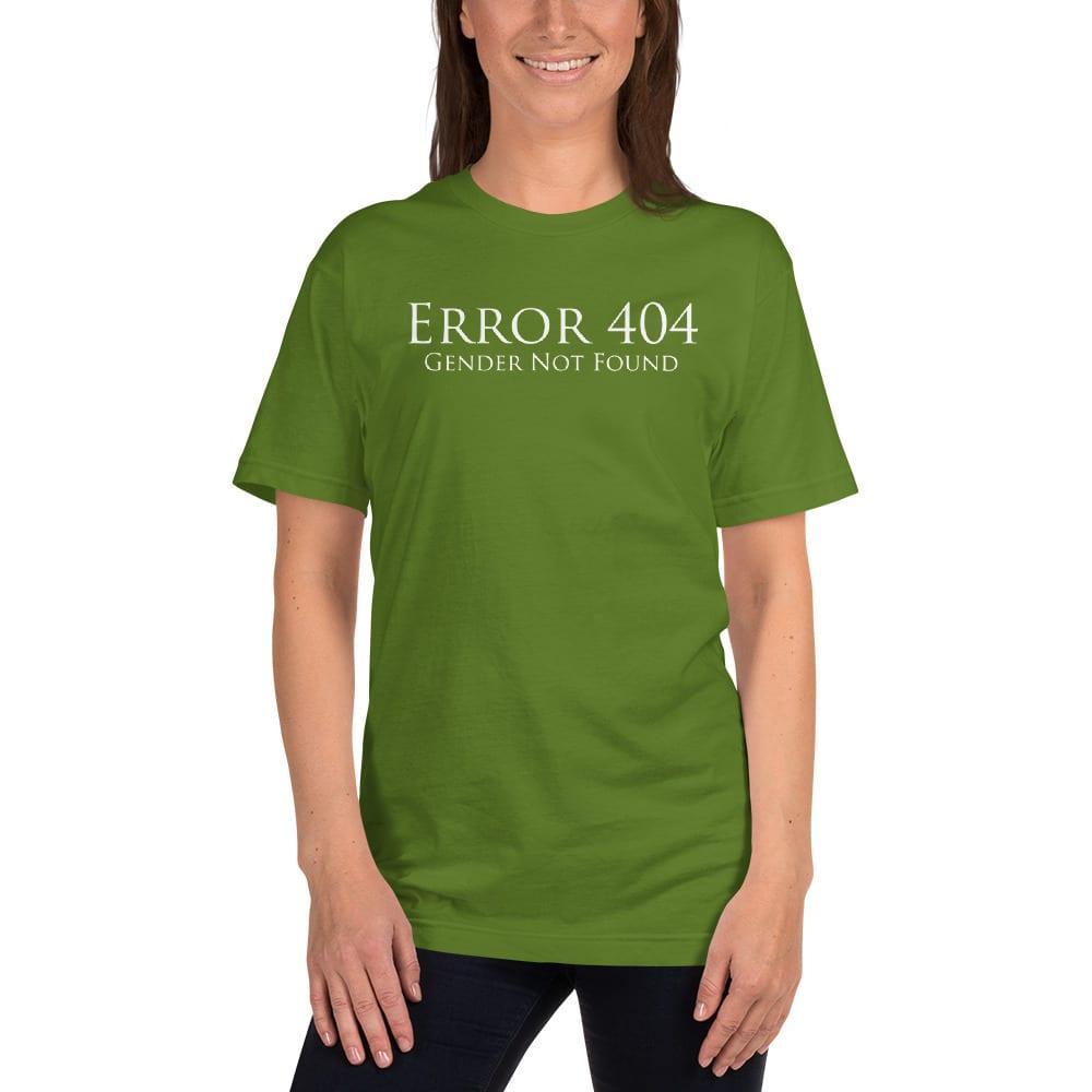 light green error 404 gender not found unisex tshirt