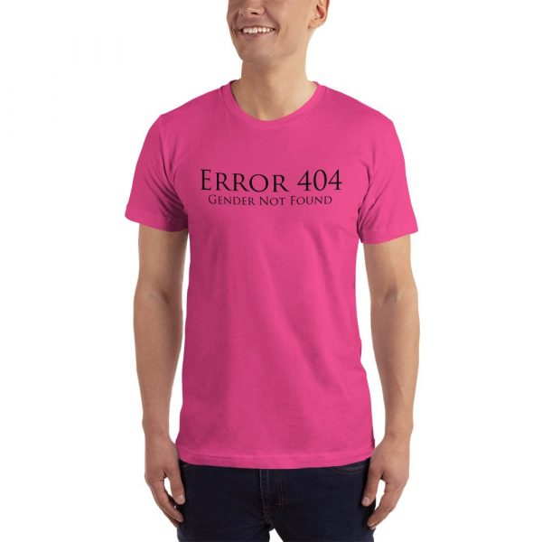 pink error 404 gender not found unisex tshirt