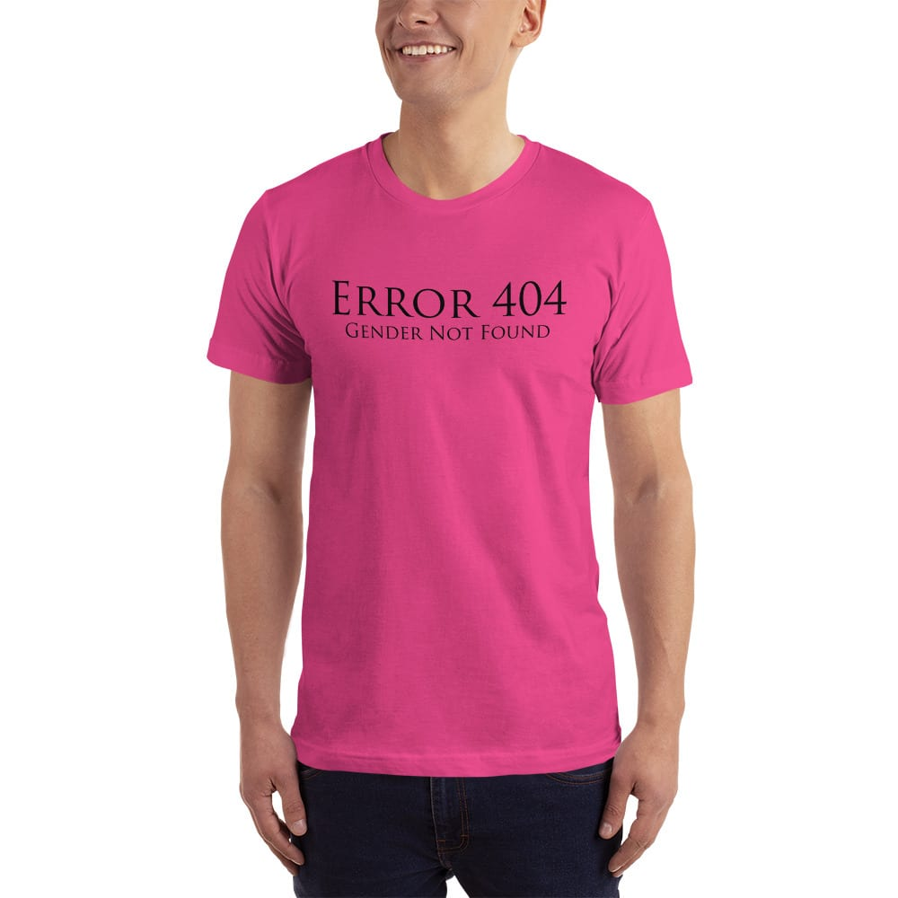 pink error 404 gender not found unisex tshirt
