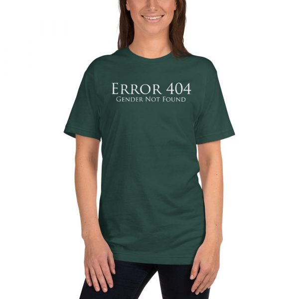 green error 404 gender not found unisex tshirt