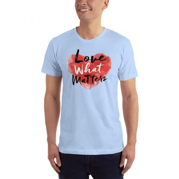 love what matters shirt light blue