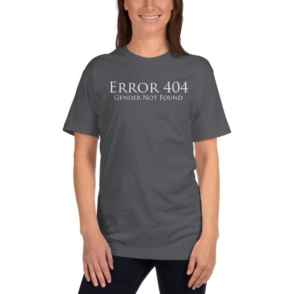 grey error 404 gender not found unisex tshirt