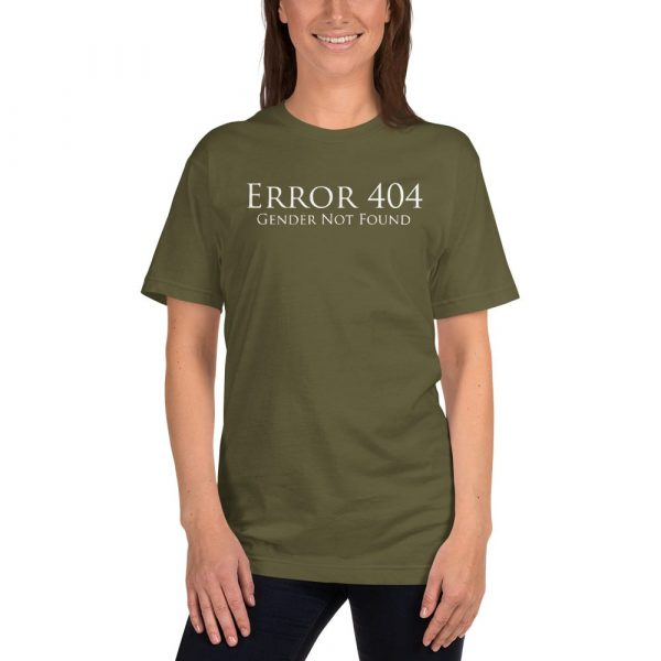 pale green error 404 gender not found unisex tshirt
