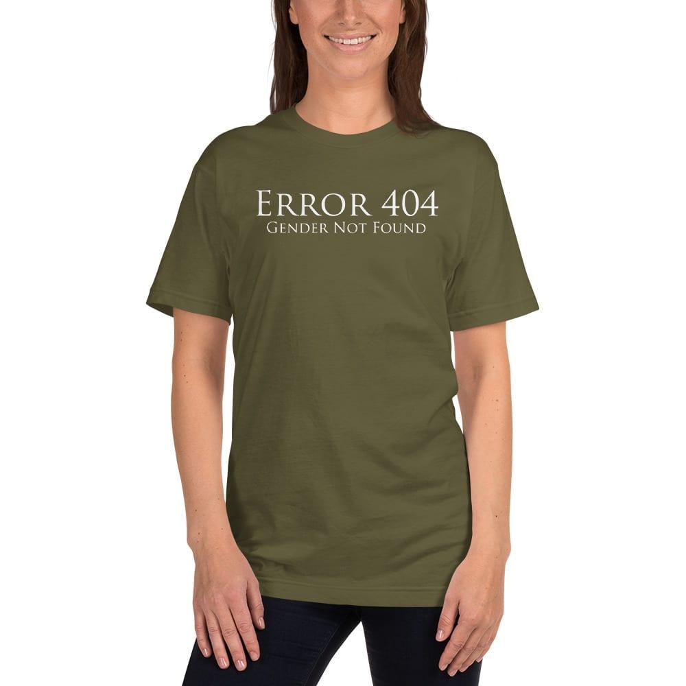 pale green error 404 gender not found unisex tshirt