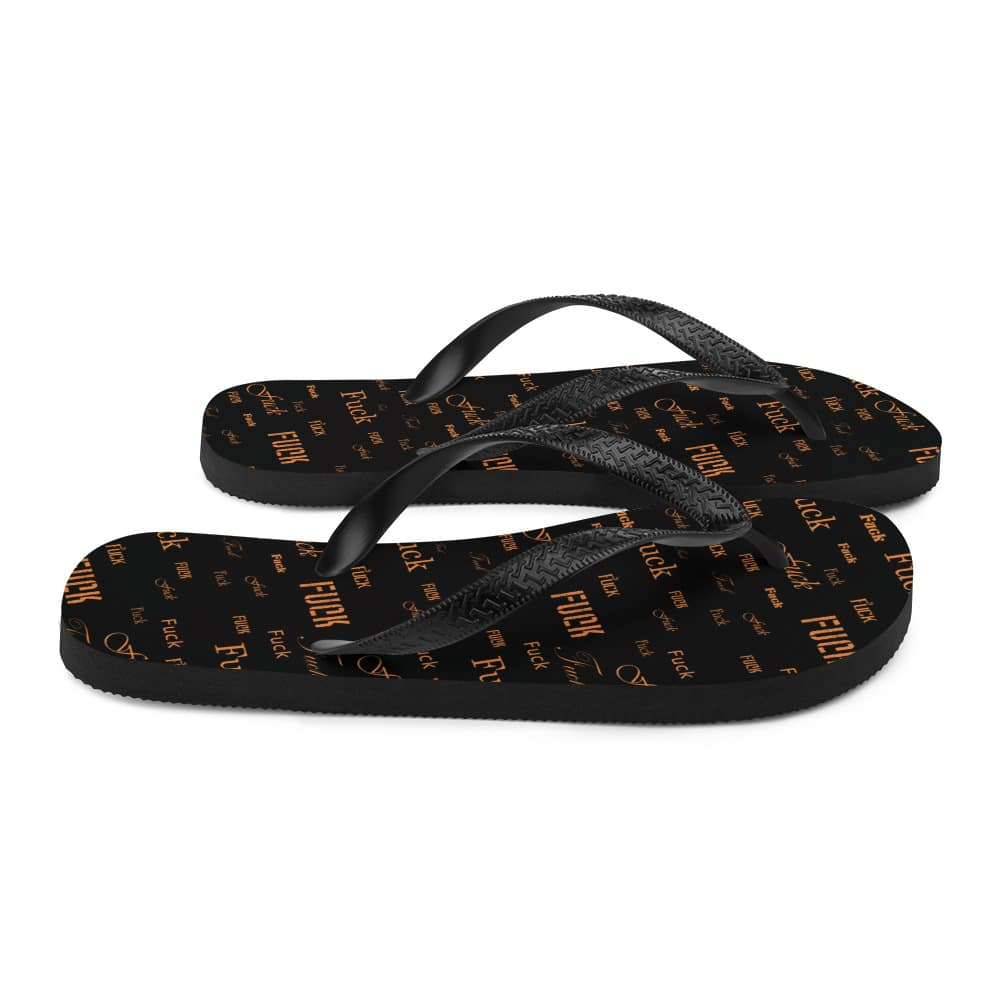 orange fuck sandals