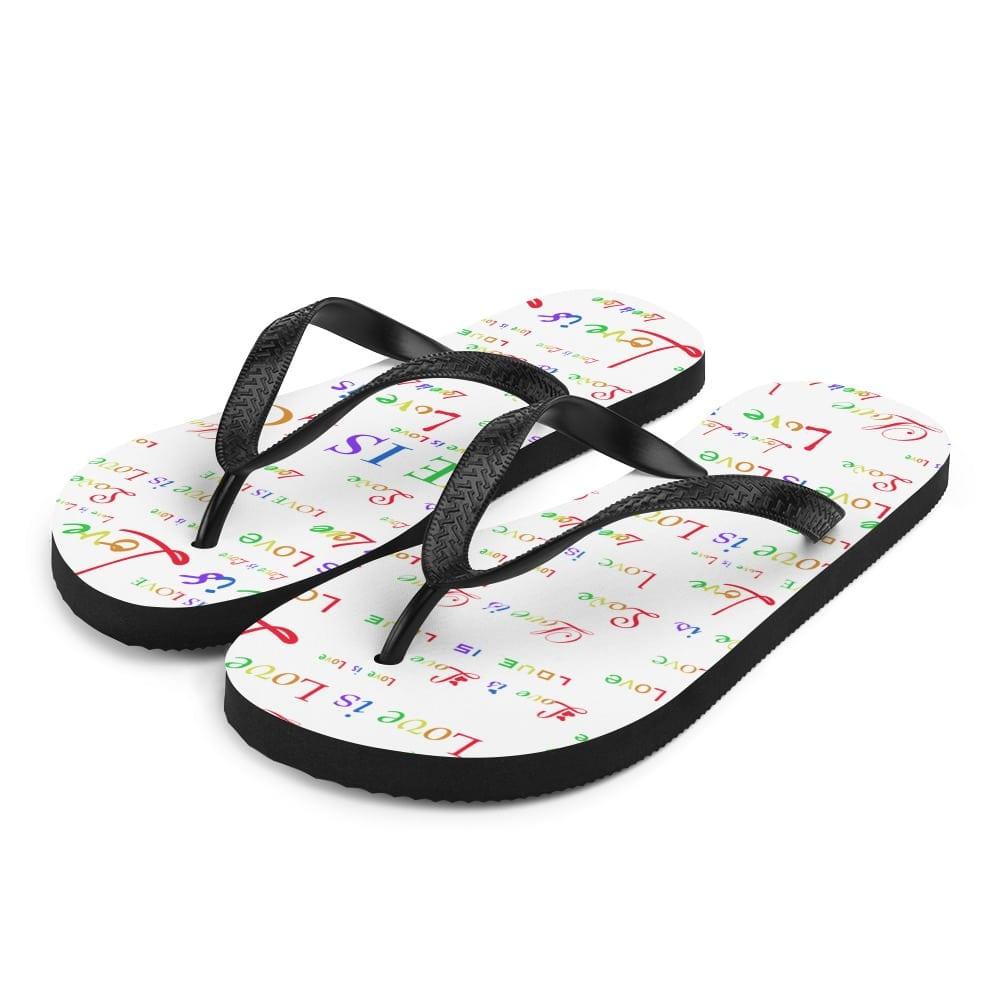 white love is love sandals