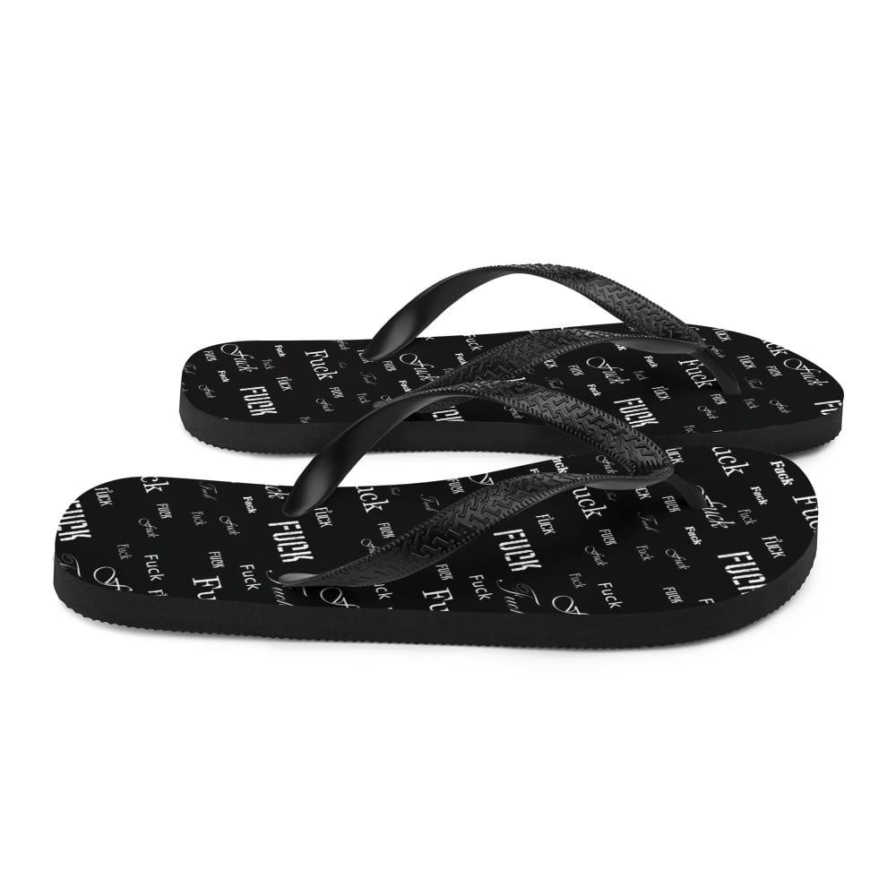 black fuck sandals