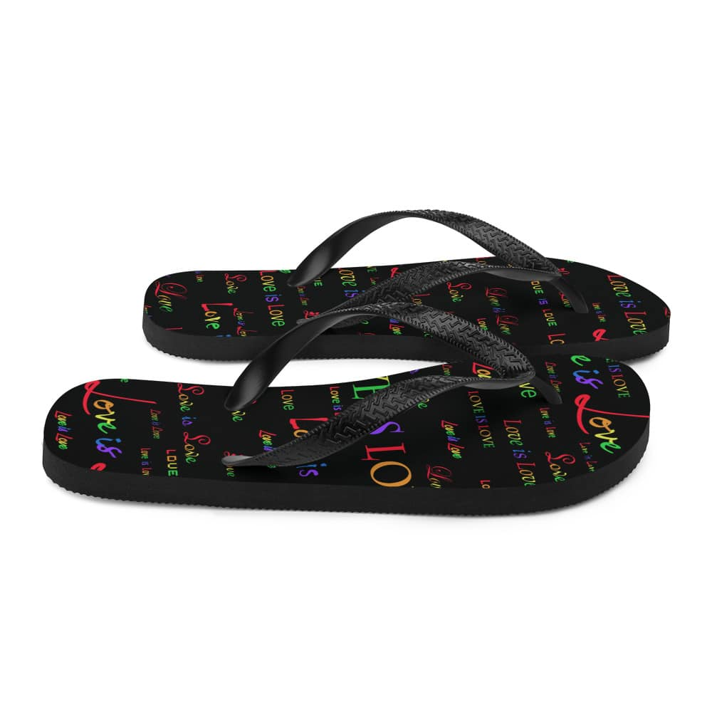 black love is love sandals