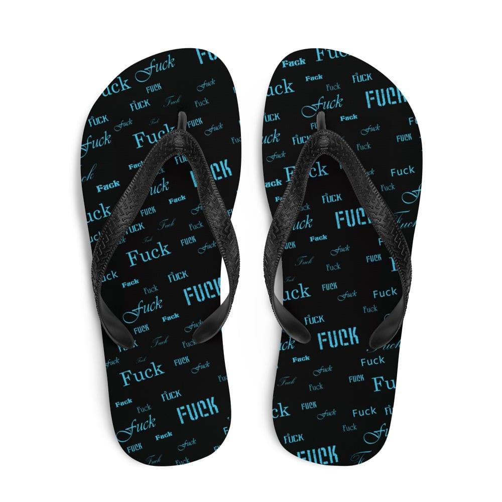 blue fuck sandals