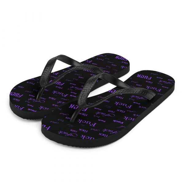 purple fuck sandals