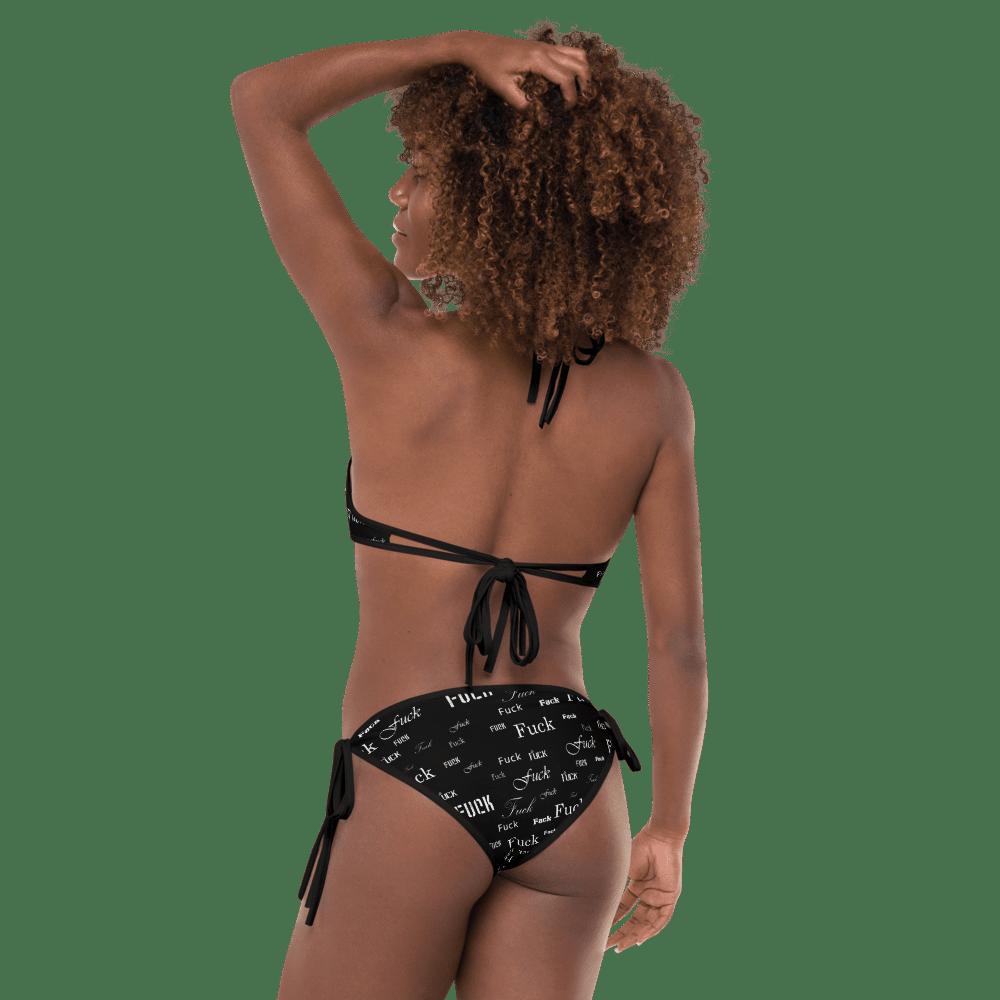 fuck black bikini set