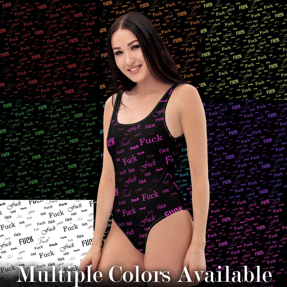 fuck one piece bathing suit comes in multiple colors