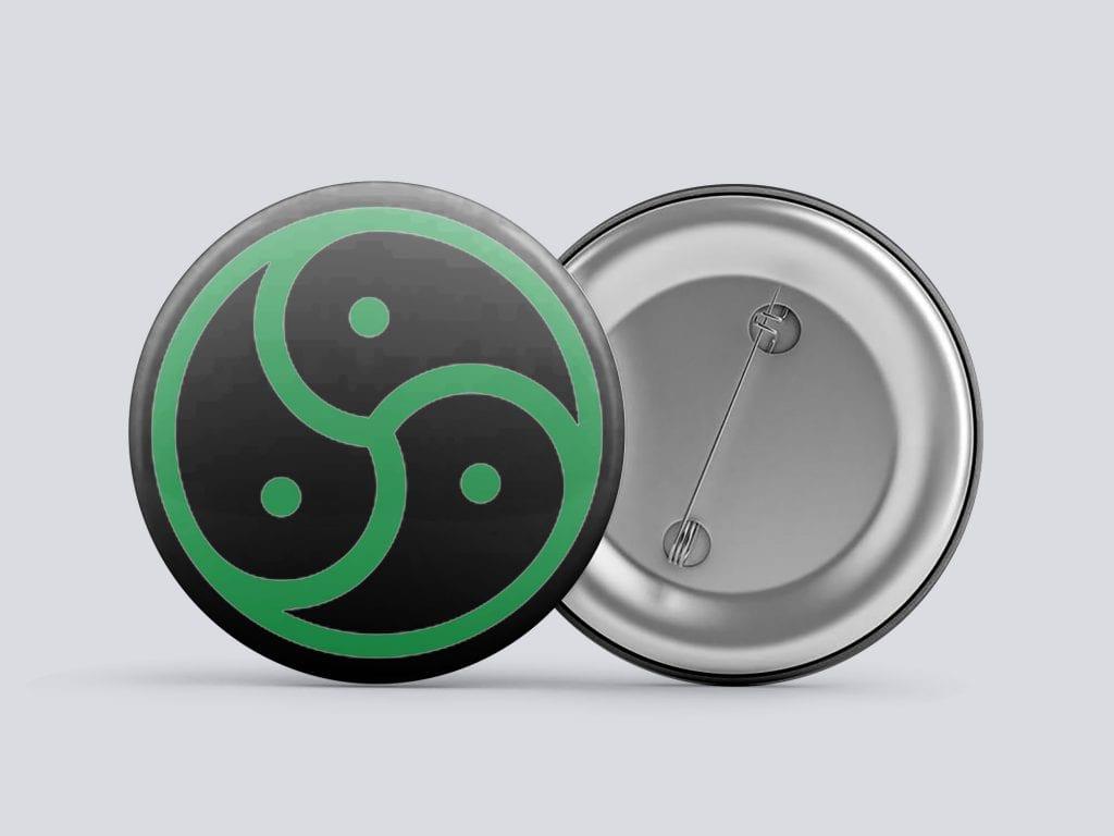 green bdsm/kink button