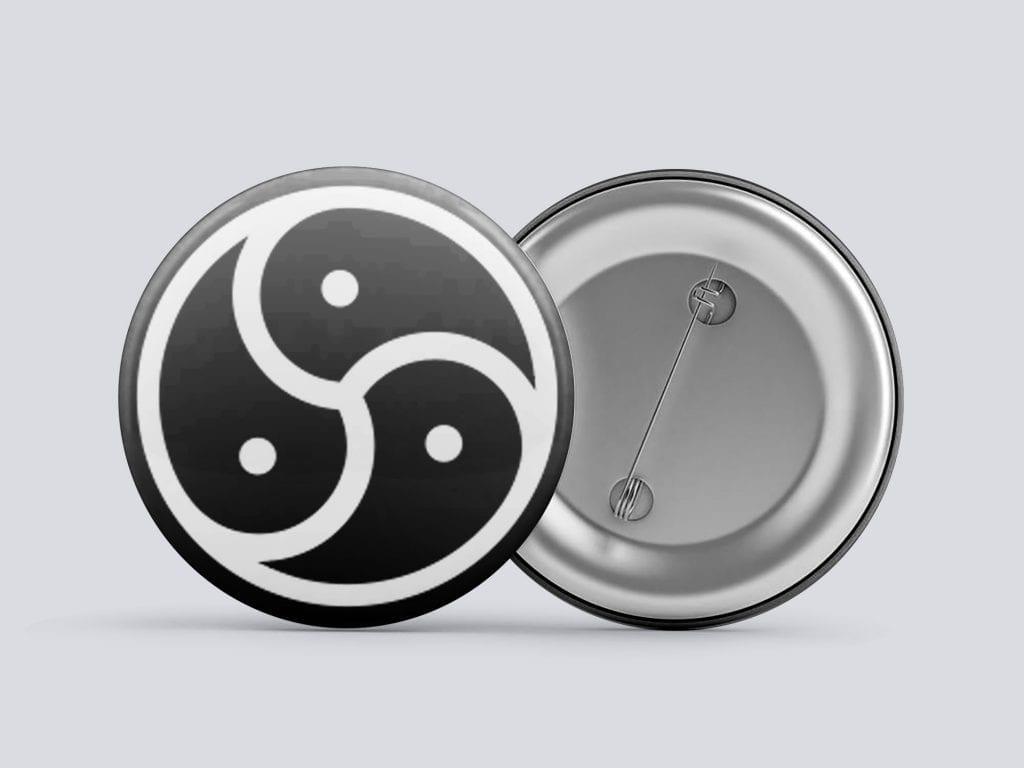 white bdsm/kink button