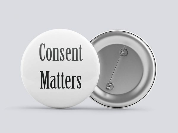 white consent matters button