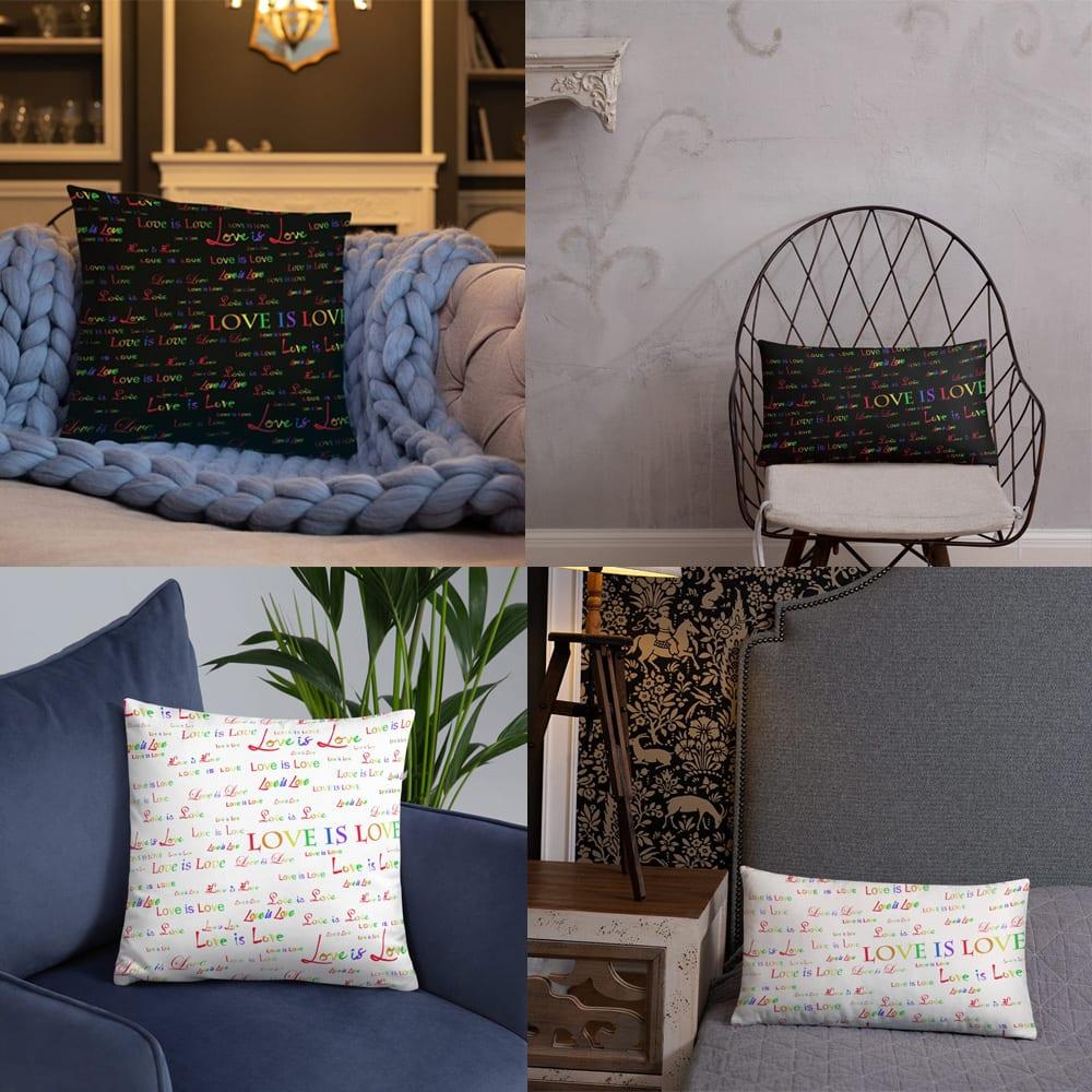 Love is Love throw pillows