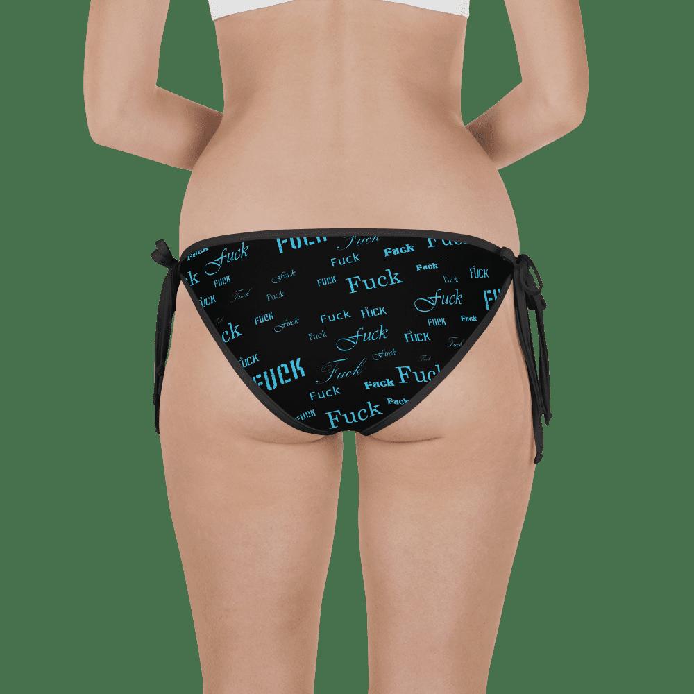 blue fuck bikini bottom
